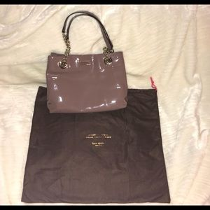 SALE! NWT! Kate Spade Mauve Patent Leather Purse